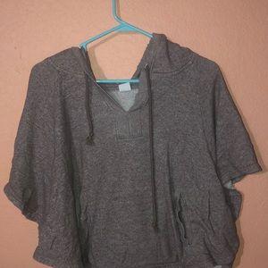 """Women's """"poncho style"""" Kirra short sleeve hoodie"""